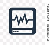 cardiogram vector icon isolated ... | Shutterstock .eps vector #1198118452