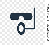snorkel vector icon isolated on ... | Shutterstock .eps vector #1198119082