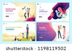 set of web page design... | Shutterstock .eps vector #1198119502