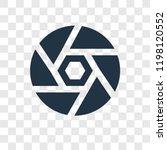 shutter vector icon isolated on ... | Shutterstock .eps vector #1198120552