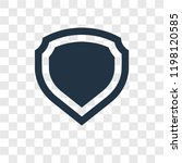 shield vector icon isolated on...
