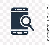 loupe vector icon isolated on... | Shutterstock .eps vector #1198121938