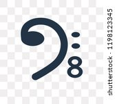 bass clef vector icon isolated... | Shutterstock .eps vector #1198123345