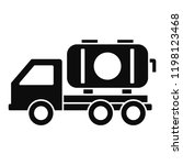petrol truck icon. simple... | Shutterstock .eps vector #1198123468