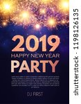 happy new 2019 year party... | Shutterstock .eps vector #1198126135