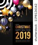 happy new 2019 year  shining... | Shutterstock .eps vector #1198126162