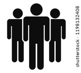 people meeting icon. simple... | Shutterstock .eps vector #1198132408