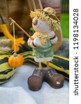 autumn decorations during the... | Shutterstock . vector #1198134028
