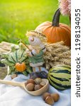 autumn decorations during the... | Shutterstock . vector #1198134055