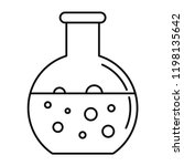 chemical round flask icon.... | Shutterstock .eps vector #1198135642