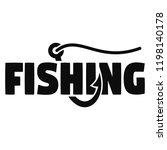 Modern Fish Hook Logo. Simple...