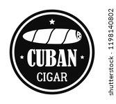 original cuban cigar logo.... | Shutterstock .eps vector #1198140802