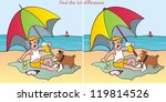 parasol find 10 differences | Shutterstock . vector #119814526