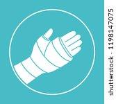 broken arm  bone fracture ...   Shutterstock .eps vector #1198147075