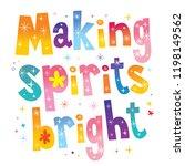 making spirits bright | Shutterstock .eps vector #1198149562