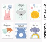 Set Of Baby Shower Cards With...