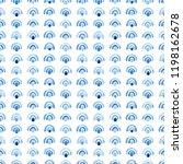 blue watercolor seamless... | Shutterstock . vector #1198162678