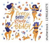 every body is ready for beach   ... | Shutterstock .eps vector #1198163575
