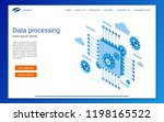 data processing  cloud... | Shutterstock .eps vector #1198165522
