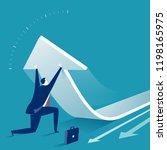 turnover. business concept... | Shutterstock .eps vector #1198165975
