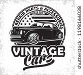 hot rod garage logo design ...   Shutterstock .eps vector #1198166038