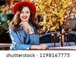 outdoor portrait of young... | Shutterstock . vector #1198167775