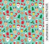 seamless pattern of christmas... | Shutterstock .eps vector #1198174135