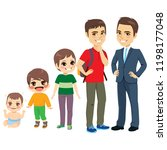 man growing stages from baby... | Shutterstock .eps vector #1198177048