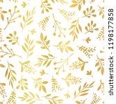 gold foil florals seamless... | Shutterstock .eps vector #1198177858