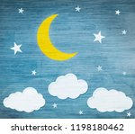 vintage background  moon and... | Shutterstock . vector #1198180462