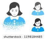 woman icon with face in... | Shutterstock .eps vector #1198184485