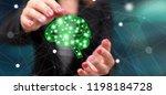 artificial intelligence concept ... | Shutterstock . vector #1198184728