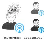 podcast creator icon with face... | Shutterstock .eps vector #1198186072