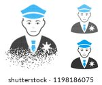 policeman icon with face in...   Shutterstock .eps vector #1198186075