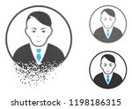 rounded gentleman icon with... | Shutterstock .eps vector #1198186315
