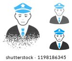 policeman icon with face in...   Shutterstock .eps vector #1198186345
