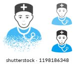 physician icon with face in... | Shutterstock .eps vector #1198186348