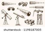 binoculars or field glasses.... | Shutterstock .eps vector #1198187005