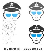 evil soldier face icon with... | Shutterstock .eps vector #1198188685