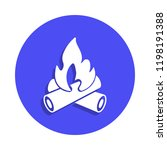 fire icon in badge style. one...