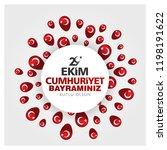 29 ekim cumhuriyet bayrami.... | Shutterstock .eps vector #1198191622