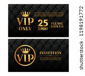 vip luxury invitation event.... | Shutterstock .eps vector #1198191772