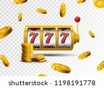 slot machine lucky sevens... | Shutterstock .eps vector #1198191778