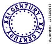 xxi century stamp seal imprint... | Shutterstock .eps vector #1198200568