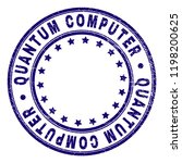 quantum computer stamp seal... | Shutterstock .eps vector #1198200625