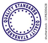 quality standards stamp seal... | Shutterstock .eps vector #1198200628