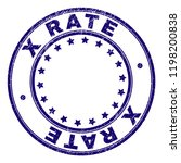 x rate stamp seal imprint with... | Shutterstock .eps vector #1198200838