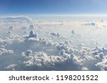 clouds viewed from above in a...   Shutterstock . vector #1198201522