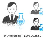 chemist icon with face in... | Shutterstock .eps vector #1198202662