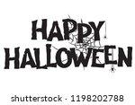 happy halloween handwritten...   Shutterstock .eps vector #1198202788